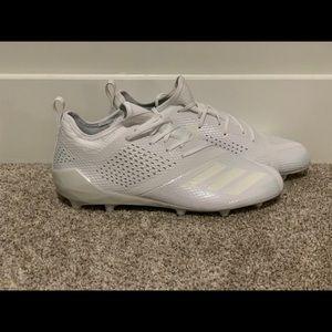 Adidas AdiZero 5-Star 7.0 Triple White Cleats